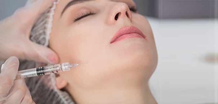 Injections volumatrices de visage de femme