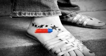 detatouage sur le pied