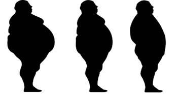 silhouette obèse