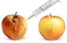 pomme frippée puis lisse avec une injection